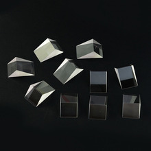10PCS Defective Optical Glass Prisms Right angle triangular prism Prism for Physics science Teaching