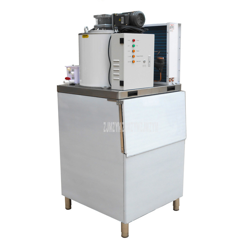 300kg/day 1.2KW Electric Ice Slicer 1.8-2.3mm Commercial Automatic Ice Cutting in Slice Making Machine For Food Cold Storage 5