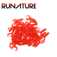 Runature 4cm/0.8g Maggot Worms 50pcs 100pcs Soft Fishing Lure Artificial Silicone Bait