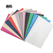 AHB Glitter Fabric Shiny Faux Leather Fabric for Bows DIY Bag Artificial Leather Fabric Handmade Wallpaper Phone Case Materials ahb synthetic leather glitter printed unicorn shiny fabric faux leather sheets diy hair bows fabric handmade crafts materials
