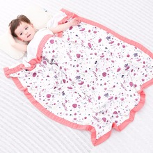 Purple four layerbaby muslin swaddle blankets quality better than Aden Anais cotton/bamboo children Blanket Infant Wrap kids bat