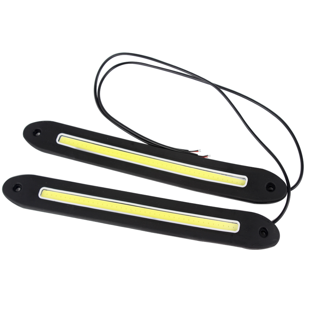Daytime Running Light DRL Car Styling Flexible COB LED Lights Universal External Lights Car Lights 4in1 daytime running light 12v 12w led car emergency strobe lights drl wireless remote control kit car accessories universal