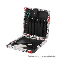1PC Superior PU Leather Hair Scissors Case Shears Holder With 7 Pouches Professional Hairdressing Barber Salon Storage Case