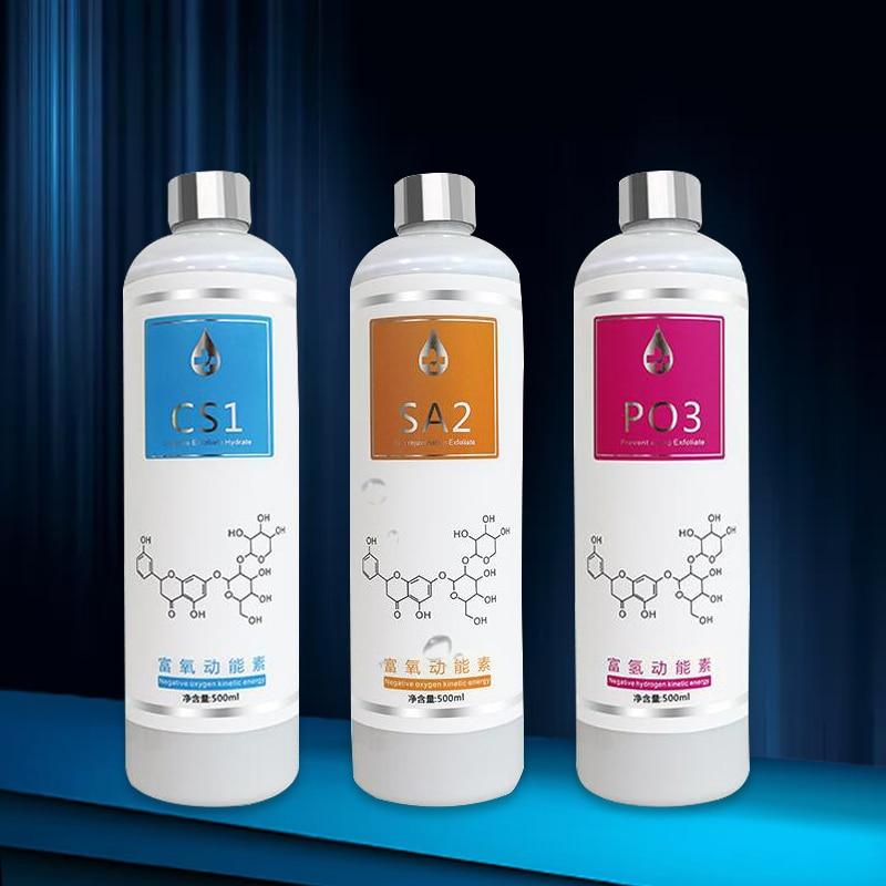 Aqua Peeling Solution 3 Bottles/400ml Per Bottle Aqua Facial Serum Hydra Facial Serum For Normal Skin