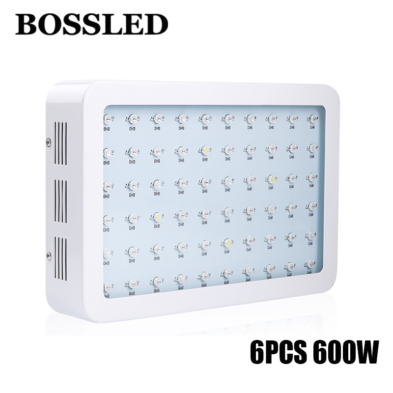 6pcs/lot 600W Double Chips LED Grow Light Full Spectrum Plus 410-730nm For Indoor Plants and Flower Phrase Very High Yield russian phrase book