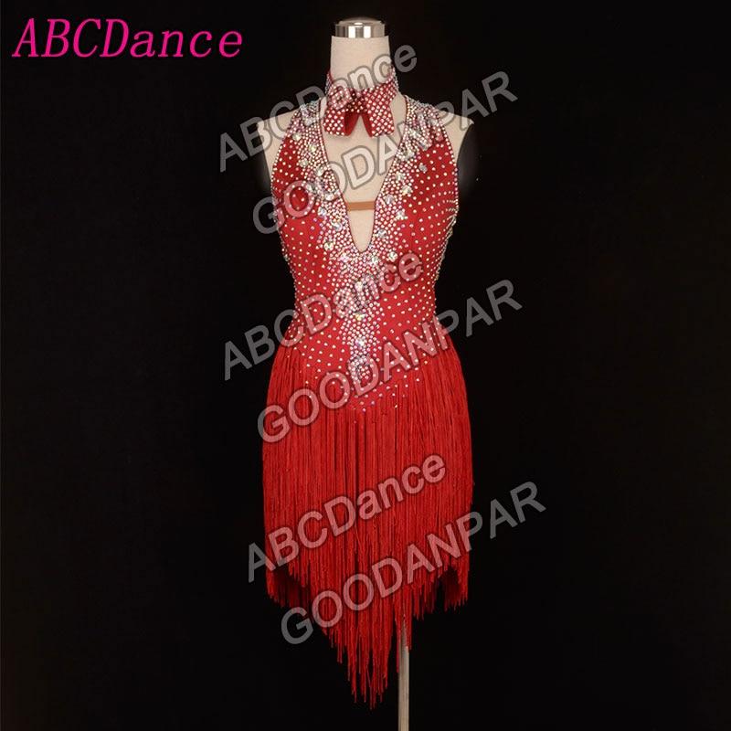 Fringe Latin Dance Dress,ChaCha Rumba Samba Tango Irregular Dance Dress Professional Dance Costumes