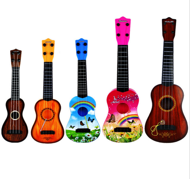 High Quality Professional Mini Vintage Wooden Childrens Toys Guitar Ukulele Cuatro Acoustic Musical  Strings