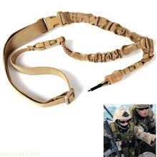 Sports Single-Point Gun Sling Fits All Guns for Military Hunting and Airsoft – Brown