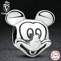 Gift Sterling Silver 925 Lover Cute Mickey Shape Charms and beads Fit Pandora Bracelet & Necklace Jewelry Accessories S196