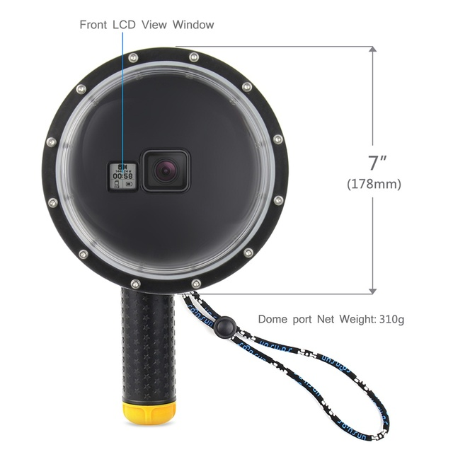 SOONSUN 6″ Waterproof Dome Port Cover for GoPro Hero 5 6 7 Black Camera Lens Dome Waterproof Case for Go Pro Hero6 Accessories