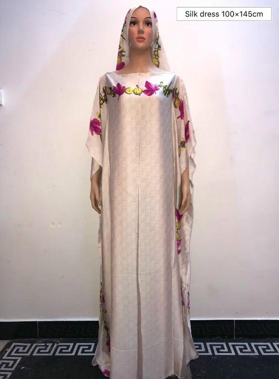 Exclusive Euorpean Printed Italian Silk Women Summer Maxi  Popular Modern Kaftan Silk Dresses African Dresses For Women