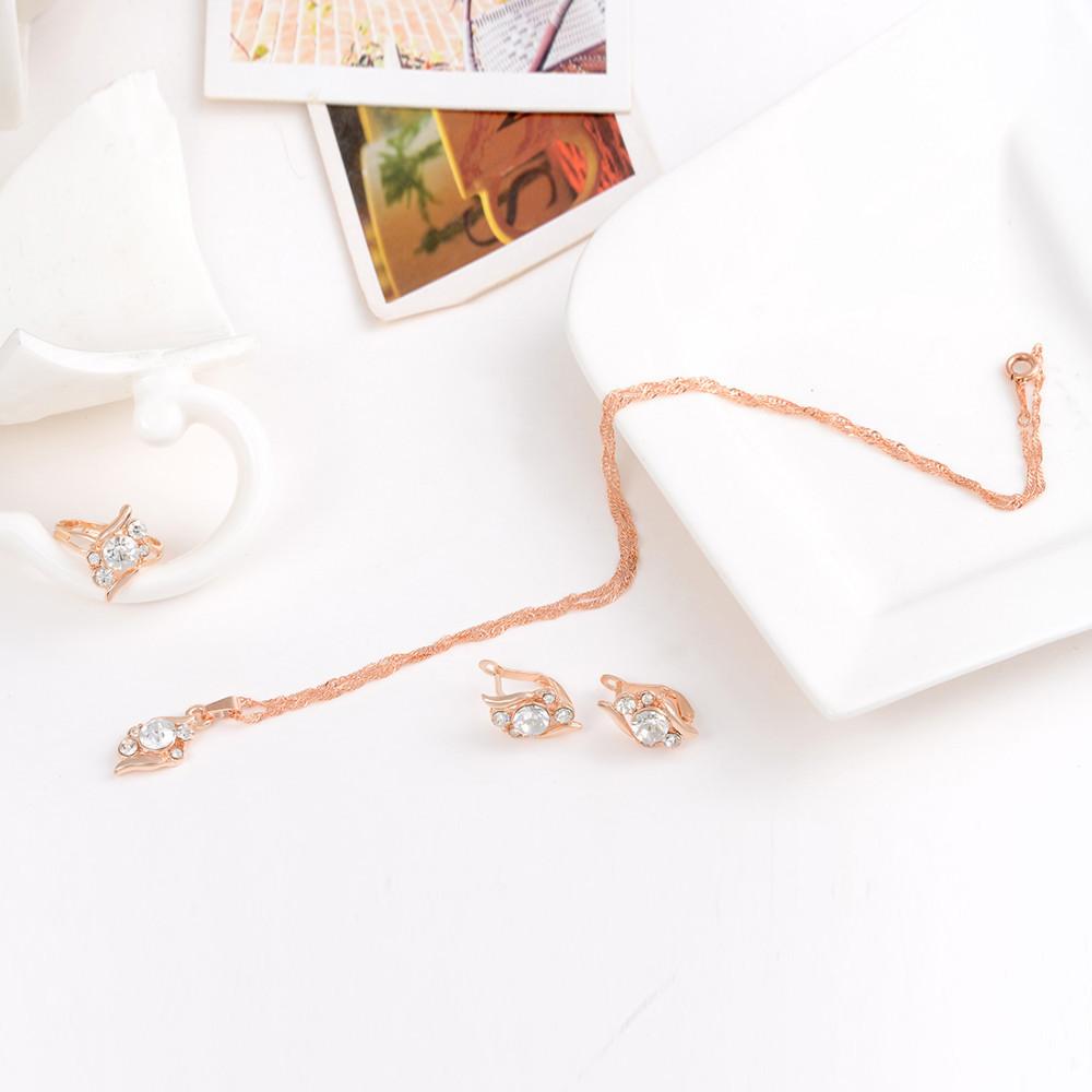 HTB1a8vKGVXXXXbBXVXXq6xXFXXXL 3-Pieces Rhinestone Studded Rose Gold Women Jewelry Gift Set