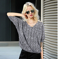 2017 Hot New arrive Korean Ladies' sweater  women fashion pullover knitwear Sexy Light grey Free Shipping