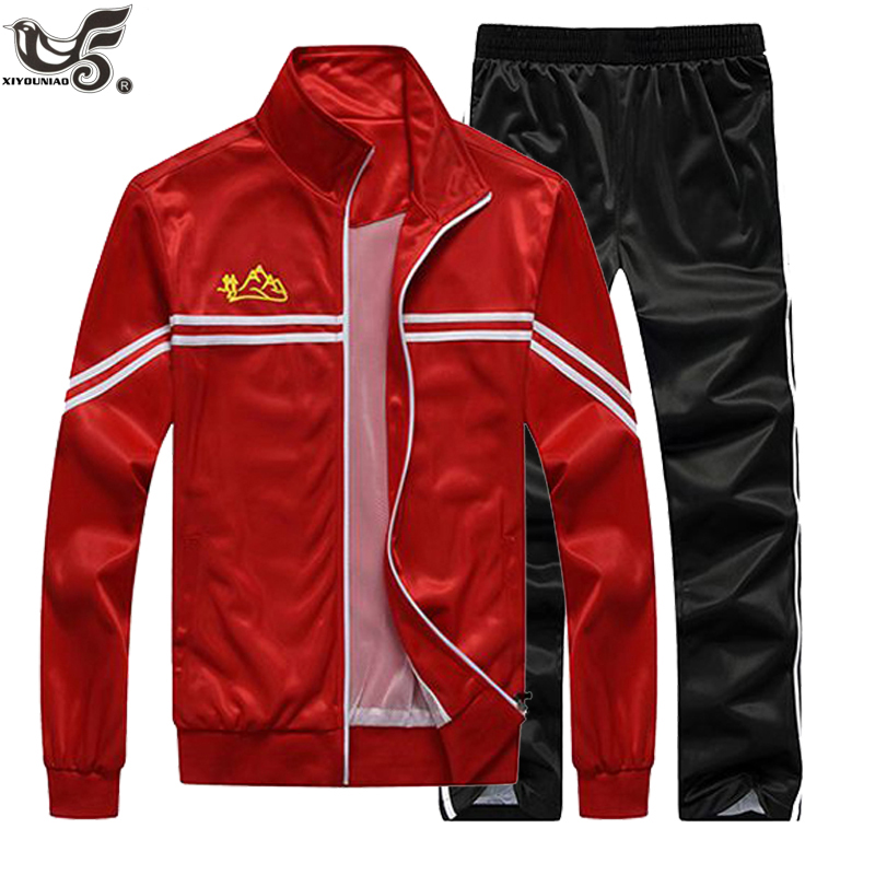 New Tracksuit Men Two Piece Jacket+Pant Clothing Sets Casual Training Track Suit Sportswear Sweatsuits Man Basketball Sport Suit