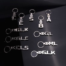 Key Rings New For Mercedes Benz A B C E S R GL Keychains SLK GLK CLS GLC ML GLE 3D Car Keychain Metal Keyring Chain