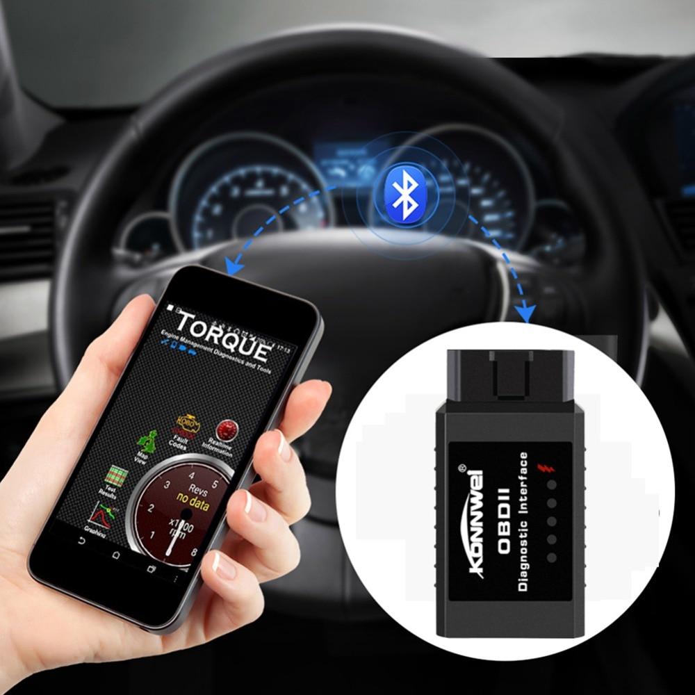 KONNWEI KW910 ELM327 Bluetooth OBD2 Moteur Erreur d'analyse instruments auto diagnostic outil obd 2 Scanner de voiture-détecteur PIC18F25K80