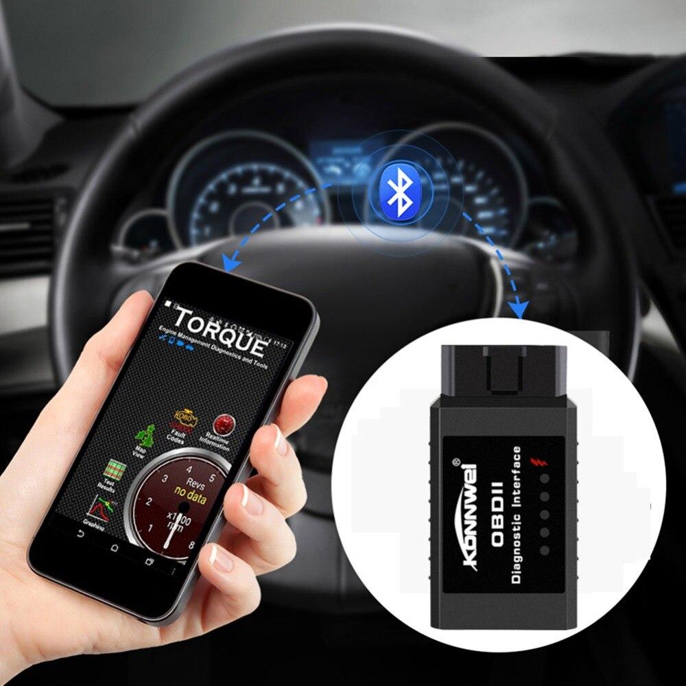 KONNWEI KW910 ELM327 Bluetooth OBD2 Motor Fehler scan instrumente auto diagnose werkzeug obd 2 Scanner auto-detektor PIC18F25K80