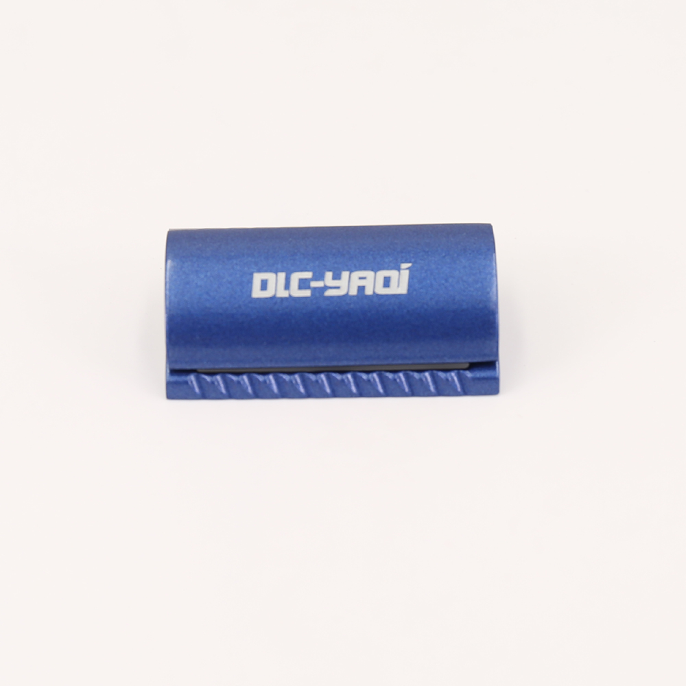 Space Blue Color Scalloped Bar Double Edge Safety Razor Head Without Logo scalloped fitted
