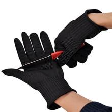 Бесплатная доставка пара из нержавеющей стали страховочный трос перчатки мясник анти — резки работу защитные перчатки круто-устойчивых