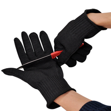 Free Shipping One Pair Stainless Steel Wire Safety Gloves Butcher Anti-cutting Work Protective Gloves Cut-resistant