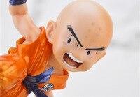 12 cm anime Dragon Ball z Budokai 2 Krilin Dragon ball figura de acción del pvc colección clásica figura modelo muñeca de juguete Brinquedos
