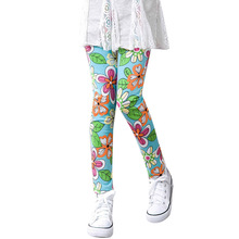 цена WEIXINBUY Kids Girls Leggings Pants Flowers Printed Stretch Pants Kid Legging Children Girls Leggings Toddler Classic 3-14Y онлайн в 2017 году