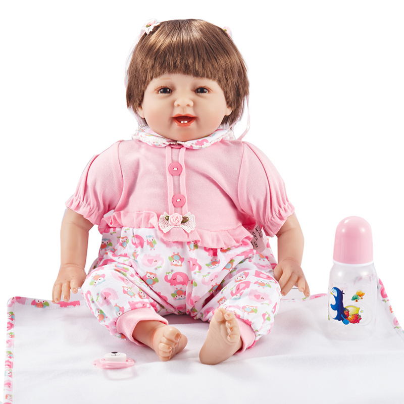 22 full silicone vinyl body reborn dolls baby reborn girl soft body best children sleeping boy gift toys brinquedos bonecas New Silicone Vinyl Doll Reborn Babies 55CM Dolls for Girl Toys Soft Body Lifelike Newborn Baby Bonecas Best Gift For Kids Child8