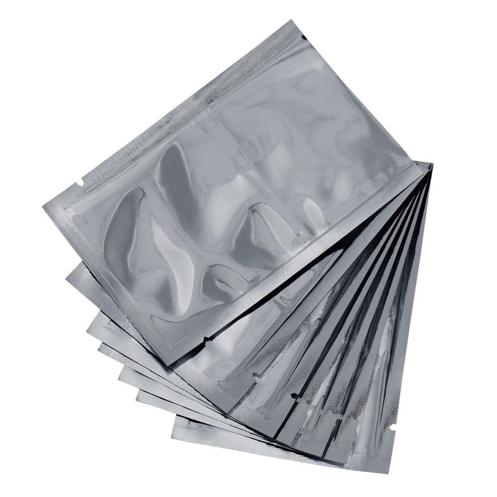 500pcs lot 8 12cm Milk Powder Storage Aluminum Foil Bag Vacuum Pouch Heat Seal Open Top Mylar Packaging Bags with Tear Notch in Storage Bags from Home Garden