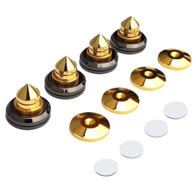 New 8 Pair Speaker Spikes Speakers Repair Parts Diy Mini Portable Audio Speaker Stand Shock Pin Nails and Pads Accessories