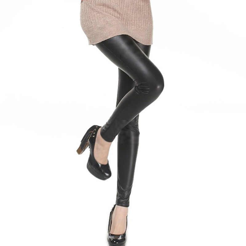 Cuhakci Legging Gratis Dropshipping Vrouwen Hot Sexy Black Wet Look Faux Leather Leggings Slim Shiny Broek Plus Maat S M L Xl Xxl