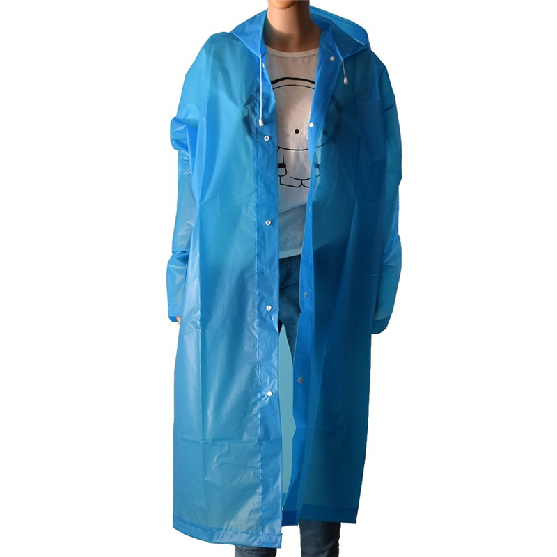 Adult EVA Raincoat Rainproof Women and men's Raincoat Clear Waterproof Camping Hooded Poncho Coat Unisex 2019