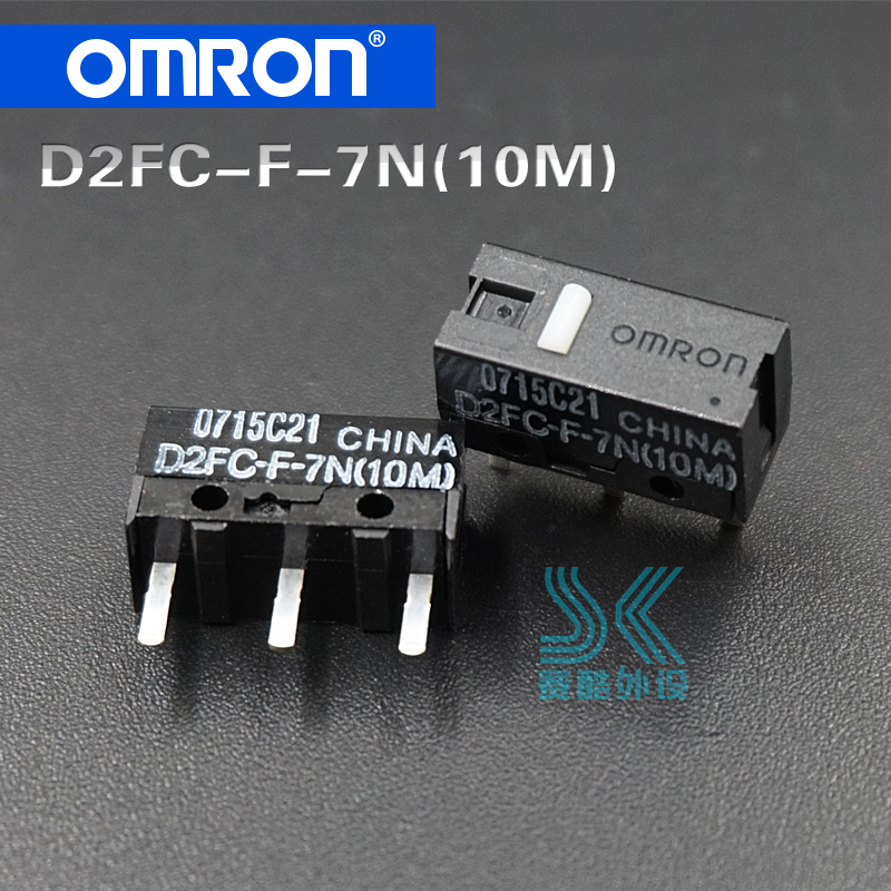 Omron Micro Switch D2FC-F-7N 10M Button Suitable For 20M 50M Button Of Steelseries RAW Logitech G403 G603 G703 Mouse 2pcs/Lot