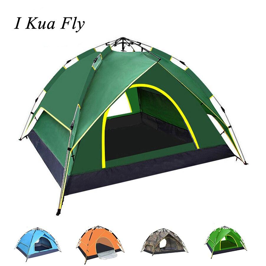 Tente pliable étanche 2-3 personnes Portable extérieur automatique instantané ouvert Camping randonnée pêche voyage tente Anti UV ombre de soleil