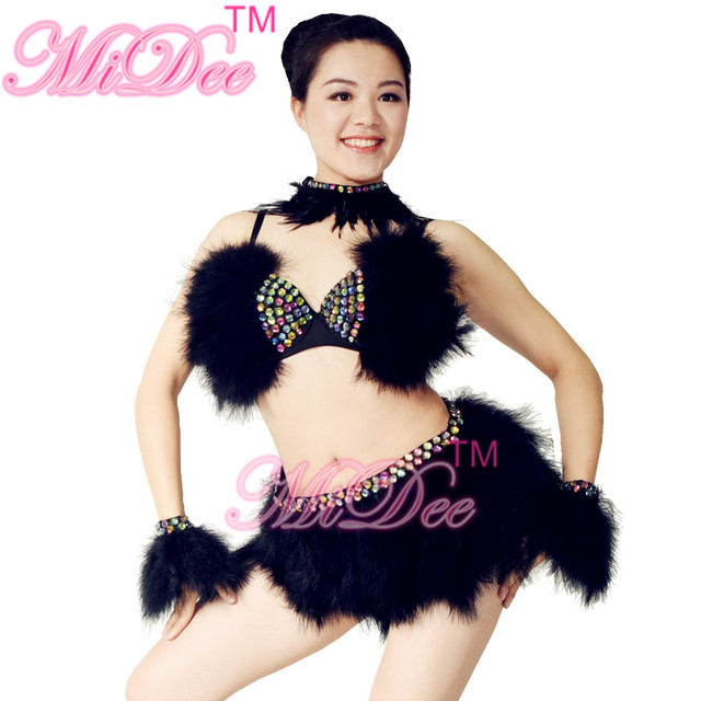912320a930c86 Enthusiast Sexy Women Belly Pole Dancing Dress Night Club Costumes Salsa  Rumba Dance Costumes For Girls