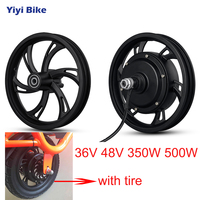 12inch Electric Bike 36V 48V 350W 500W Wheel Hub Motor Front Rear Motor Wheel For Scooter High Speed Adult Electric Scooter Tax