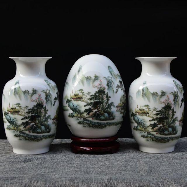 New Arrival Antique Jingdezhen Ceramic Vase Set Classical Chinese
