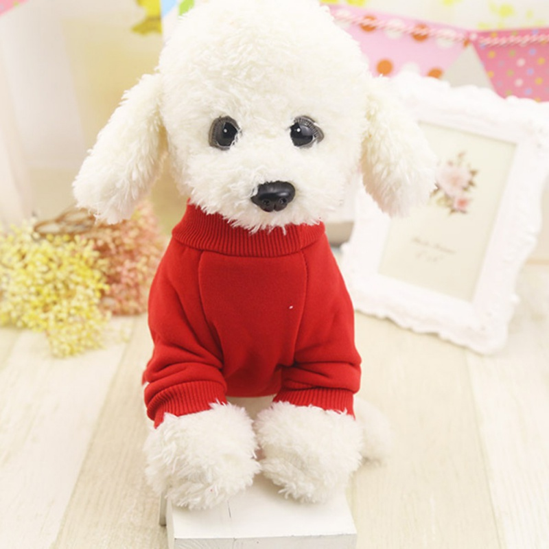 Pet Cat Plus Velvet Winter Clothes Solid Color Sweater Two-legged Bottoming Shirt Pet Cat Dog Autumn And Winter New Clothes