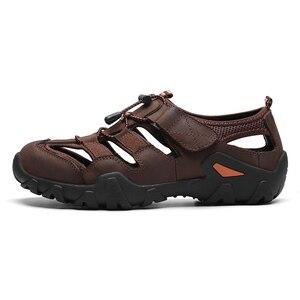 Image 3 - ZUNYU صندل عادي لينة جلد أصلي للرجال أحذية الصيف جديد كبير الحجم 38 48 رجل الصنادل موضة الرجال الصنادل النعال الصنادل