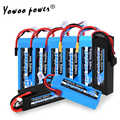 RC Graphene Battery Lipo 2S 7.4V 3S 11.1V 4S 14.8 5S 18.5V 6S 22.2V 3000mah 3300mah 4000mah 5000mah 6000mah 6500mah for RC Car