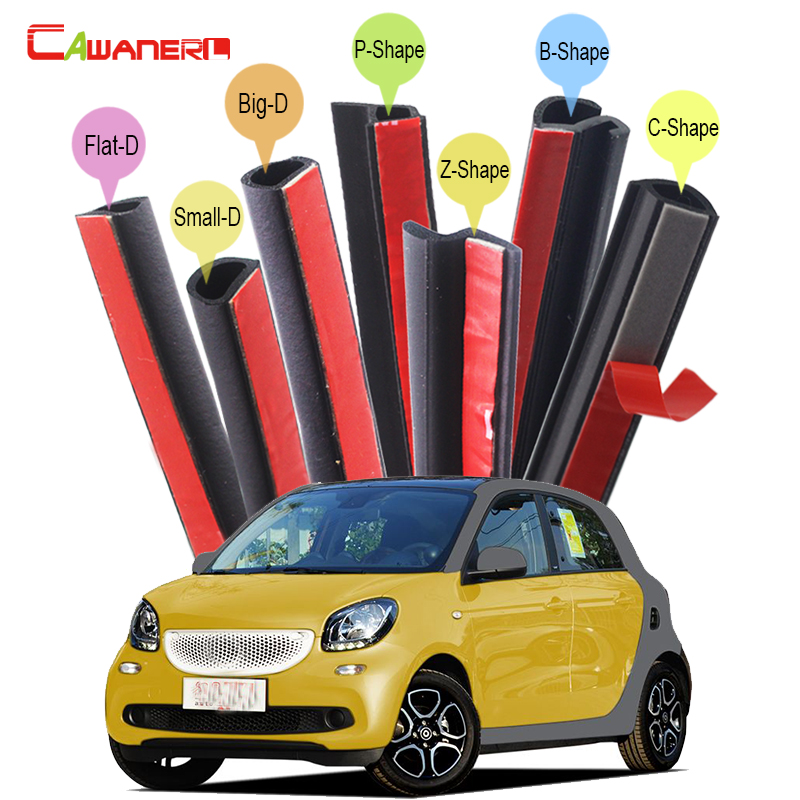 Cawanerl Whole Car Hood 4-Door Trunk Rubber Sealing Strip Kit Sound Control Seal Edge Trim Weatherstrip For Smart ForFour цены