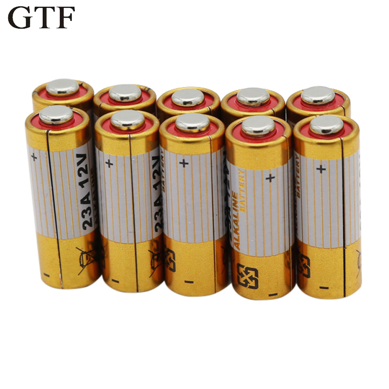 GTF 10PCS 23A 12V L1028 A23 A-23 RV08 Primary Dry Batteries Alkaline Electronic Battery For Remote controller Toy Wholesale Cell