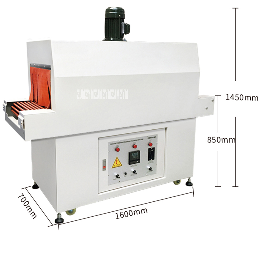 BS 480/250 Automatic Heat Shrink Packaging Machine Adjustable Speed Film Shrink Tunnels Wrapping Tool Sealing Machine 380V/11KW