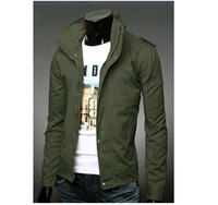 Free Shipping 2013 Spring Fashion Trend Of The Men S Clothing Long Sleeve Stand Collar Zipper