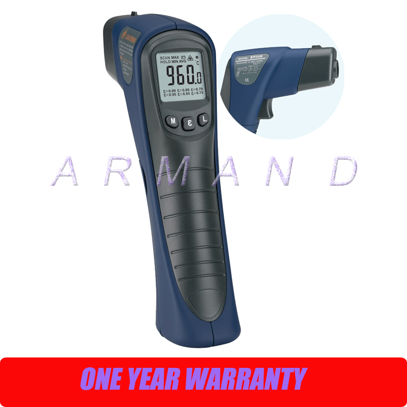 Precise Infrared Thermometer -25-1000 degree centigrade ST1000 Noncontact measuring temperature meter cpu cooling conductonaut 1g second liquid metal grease gpu coling reduce the temperature by 20 degrees centigrade