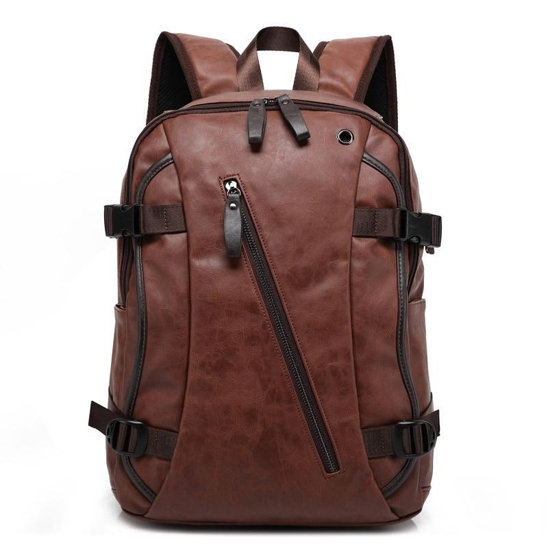 MAIWEINI 새로운 도착 남자 배낭 PU 가죽 패션 가방 여성 배낭 학교 가방 여행 남자 배낭 남자 가방 W8103