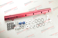 Fuel Rail Kits For Toyota 2JZ Suits 11mm Injector CNC Billet Aluminum Red New