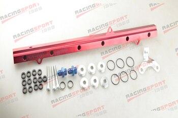 Kits de riel de combustible para Toyota 2JZ Suits 11mm inyector CNC Billet aluminio rojo nuevo