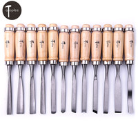 12 PCS Wood Carving Hand Chisel Tool Set Woodworking Professional Gouges Wood Carving Chisels