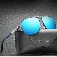 Aabbye 2018 nouveau hommes polarisant lunettes de soleil de marque conception en aluminium de magnésium lunettes tendance dazzle couleur classique lunettes de soleil oculos