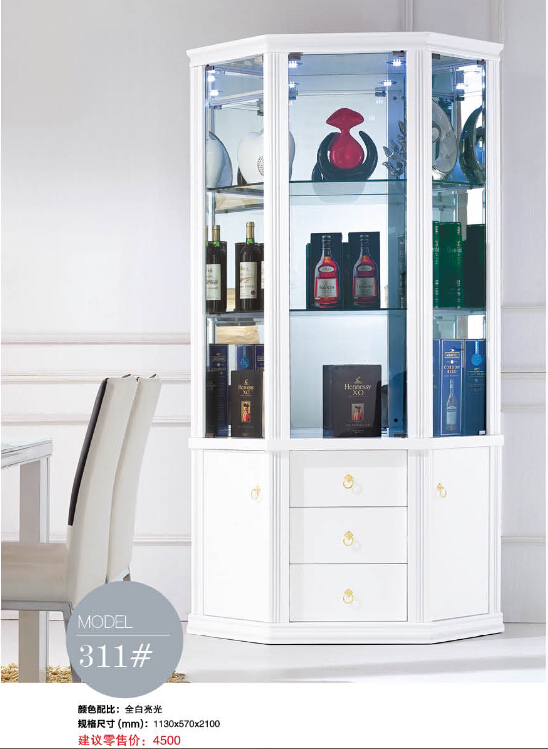 311# Living room furniture display showcase wine cabinet ...